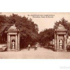 Postales: SANTIAGO DE COMPOSTELA.(CORUÑA).- HERRADURA PASEO BÓVEDA.. Lote 198160677