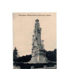 Postales: SANTIAGO DE COMPOSTELA.(CORUÑA).- MONUMENTO A ROSALÍA DE CASTRO.. Lote 198160788