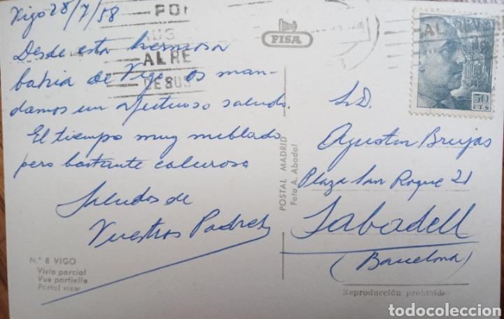 Postales: P-11245. POSTAL VIGO. MEDIADOS S.XX. - Foto 2 - 198784263