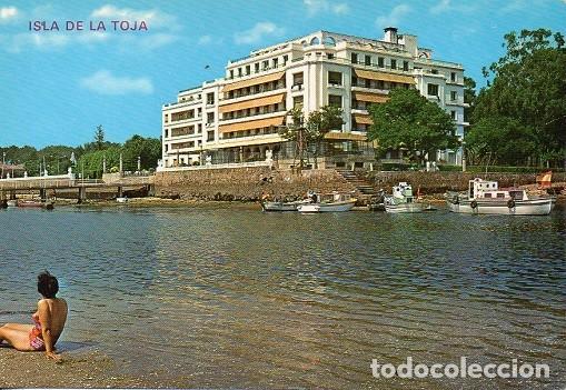 LA TOJA -27 GRAN HOTEL VISTO DESDE EL MAR (Postales - España - Galicia Moderna (desde 1940))