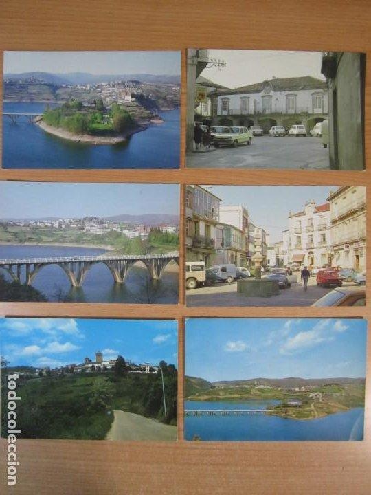 LOTE 6 POSTALES VIANA DO BOLO OURENSE GALICIA EMBALSE BAO PLAZA MAYOR CASTELO E TORRE DA IGREXA (Postales - España - Galicia Moderna (desde 1940))