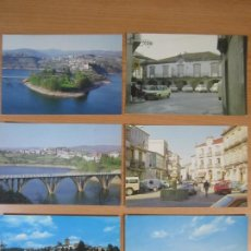Postales: LOTE 6 POSTALES VIANA DO BOLO OURENSE GALICIA EMBALSE BAO PLAZA MAYOR CASTELO E TORRE DA IGREXA. Lote 198887163