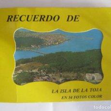 Postales: RECUERDO DE LA ISLA DE LA TOJA EN 34 FOTOS A COLOR FAMA POSTALES. Lote 199087790