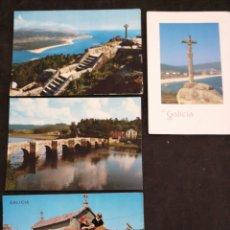 Postales: GALICIA, LOTE 4 POSTALES. Lote 199377130