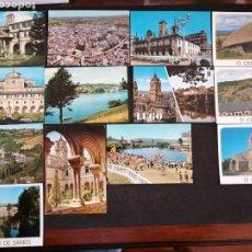 Postales: LUGO, O CEBREIRO, RIBADEO. LOTE DE 13 POSTALES. Lote 199378356