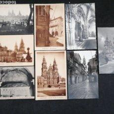 Postales: SANTIAGO DE COMPOSTELA, LOTE DE 8 POSTALES. Lote 199378740