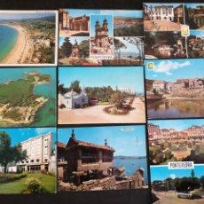 Postales: PONTEVEDRA, ISLA DE TOJA, COMBARRO, LOTE DE 9 POSTALES. Lote 199380480