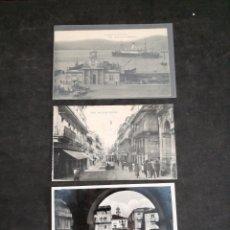 Postales: VIGO, LOTE DE 3 ANTIGUAS POSTALES. Lote 199381735