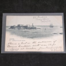 Postales: CORUÑA, CASTILLO DE SAN ANTON 1903. Lote 199383548
