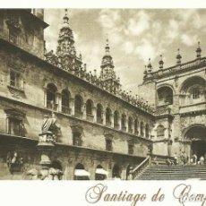Postales: SANTIAGO DE COMPOSTELA. FUENTE Y FACHADA DE LAS PLATERÍAS. ARRIBAS. 2000. BUEN ESTADO. 10,5X15 CM. . Lote 199385347