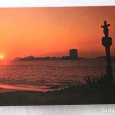 Cartoline: 3551 GALICIA PUESTA DE SOL CONTRALUZ POSTALES FAMA SELLO PUEBLA DE CARAMIÑAL. Lote 200823636