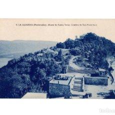 Postales: LA GUARDIA.(PONTEVEDRA).- MONTE DE SANTA TECLA. CUMBRE DE SAN FRANCISCO.. Lote 201210400