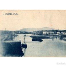 Postales: CESURES.(PONTEVEDRA).- MUELLES.. Lote 201263576