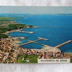 Cartoline: 6137 VILLAGARCIA DE AROSA PONTEVEDRA VISTA AEREA POSTALES FAMA SELLO. Lote 201293830