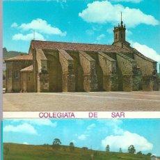 Postales: COLEGIATA DE SAR BLOC DE 10 POSTALES-FOTOGRAFICAS - - EDIT. POSTALES FAMA - VIGO. Lote 202012487