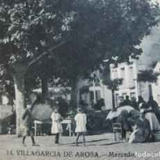 Postales: VILLAGARCIA DE AROSA-MERCADO-GRAFOS-14-POSTAL ANTIGUA-(69.267). Lote 202480063