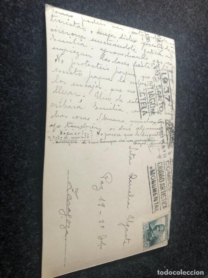 Postales: SANTIAGO DE COMPOSTELA. Postal No .61, Catedral. Plaza de Alfonso XIII Edita: Ed. foto ROISIN - Foto 2 - 203047612
