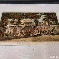 Postales: CORUÑA - POSTAL LA CORUÑA - SEPULCRO DE JOHANNES MOORE - DORSO SIN DIVIDIR. Lote 205142136