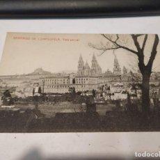 Postales: CORUÑA - POSTAL SANTIAGO DE COMPOSTELA - VISTA PARCIAL. Lote 205142555