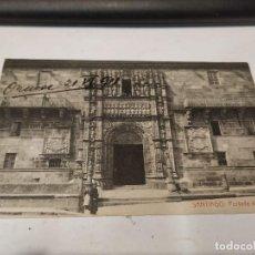 Postales: CORUÑA - POSTAL SANTIAGO DE COMPOSTELA - PORTADA DEL HOSPITAL. Lote 205142643