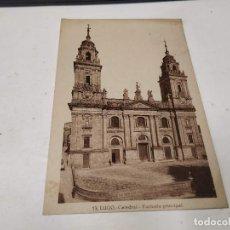 Postales: LUGO - POSTAL LUGO - CATEDRAL - FACHADA PRINCIPAL. Lote 205150613