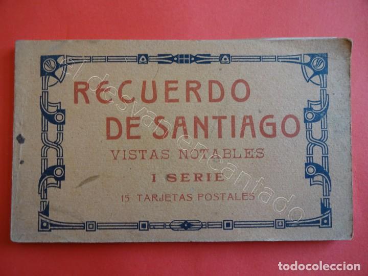 RECUERDO DE SANTIAGO. BLOC 15 POSTALES (FALTA UNA) (Postales - España - Galicia Antigua (hasta 1939))