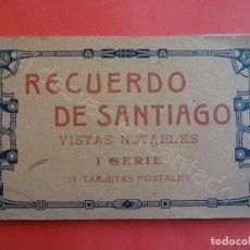 Postales: RECUERDO DE SANTIAGO. BLOC 15 POSTALES (FALTA UNA). Lote 205195041