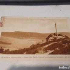 Postales: PONTEVEDRA - POSTAL LA GUARDIA - MONTE STA. TECLA - UNO DE LOS CRUCEROS EN LA CUMBRE. Lote 205295222
