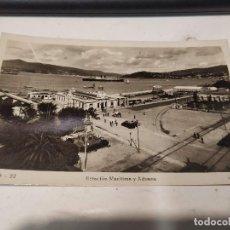 Postales: PONTEVEDRA - POSTAL VIGO - ESTACIÓN MARÍTIMA Y ADUANA. Lote 205298057