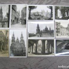 Postales: SANTIAGO DE COMPOSTELA. LOTE 10 POSTALES ORIGINLES. Lote 205379248