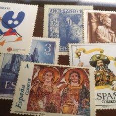 """Postales: 6 POSTALES NUEVAS """"XACOBEO 2004"""" GALICIA. REPRODUCEN SELLOS DE ESA TEMÁTICA.. Lote 295309588"""