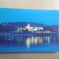 Postales: POSTAL BAYONA LA REAL, PONTEVEDRA, CASTILLO DE MONTERREAL, NOCTURNA. Lote 206222371