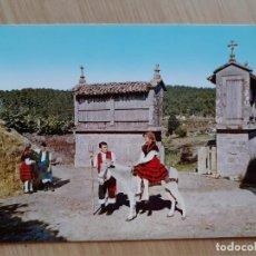 Postales: TARJETA POSTAL - 1963 FOLKLORE GALLEGO - CAMINO DA BRAÑA. Lote 206243566