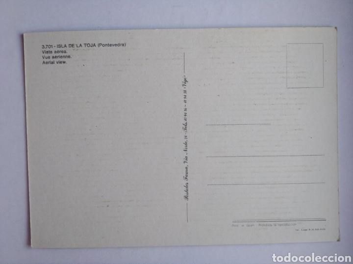 Postales: Postal Pontevedra isla de la Toja vista aérea postales fama - Foto 2 - 206310810
