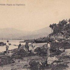 Postales: PONTEVEDRA VIGO PLAYA DEL ESPIÑEIRO. ED. PAPELERIA MANUEL VAZQUEZ RODRIGUEZ. SIN CIRCULAR. Lote 206572666