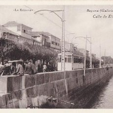 Postales: PONTEVEDRA BAYONA CALLE ELDUAYEN. ED. FOTOTIPIA HAUSER Y MENET. SIN CIRCULAR. Lote 206573516
