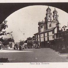 Postales: PONTEVEDRA PLAZA DE LA HERRERIA. ED. ARRIBAS Nº 18. CIRCULADA. Lote 206574357