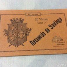 Postales: 20 VISTAS RECUERDO DE SANTIAGO - SERIE 1ª. Lote 206594560