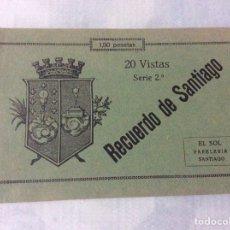 Postales: 20 VISTAS RECUERDO DE SANTIAGO - SERIE 2ª. Lote 206594767