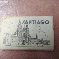 Postales: ANTIGUO ABANICO DE POSTALES PEQUEÑAS DE SANTIAGO COMPOSTELA. Lote 206794672