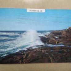 Postales: POSTAL BAYONA LA REAL, PONTEVEDRA, ROMPEOLAS. Lote 207076495