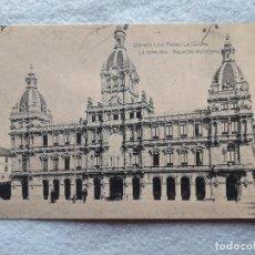 Postales: LA CORUÑA. PALACIO MUNICIPAL.. Lote 207177542