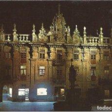 Postales: [POSTAL] NOCTURNA CASA DEL CABILDO. PLAZA DE PLATERÍAS SANTIAGO DE COMPOSTELA (CORUÑA) (S/ CIRCULAR). Lote 207220511