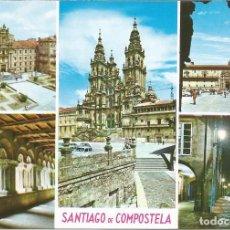 Postales: [POSTAL] DIVERSAS VISTAS. SANTIAGO DE COMPOSTELA (CORUÑA) (S/ CIRCULAR). Lote 207220697