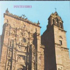 Postales: ANTIGUA POSTAL DE PONTEVEDRA. BASÍLICA DE SANTA MARÍA LA MAYOR.. Lote 207446681