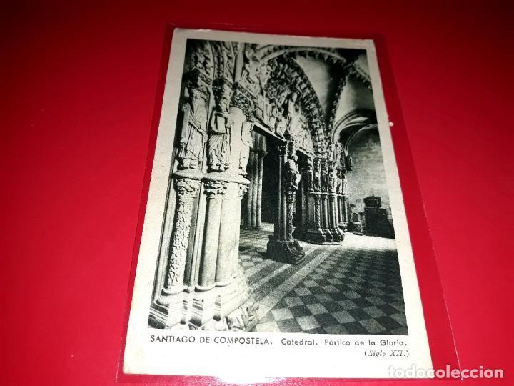 """SANTIAGO DE COMPOSTELA """" CATEDRAL PORTICO DE LA GLORIA """" ESCRITA Y SELLADA 1949 (Postales - España - Galicia Moderna (desde 1940))"""