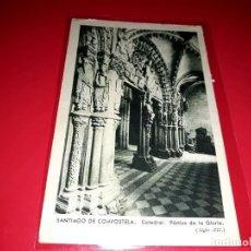 """Postales: SANTIAGO DE COMPOSTELA """" CATEDRAL PORTICO DE LA GLORIA """" ESCRITA Y SELLADA 1949. Lote 208067646"""