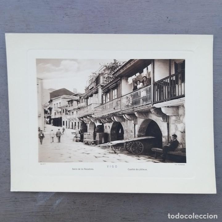 GRAN FOTOGRAFIA/FOTOTIPIA IMPRESA BARRIO DE PESCADORES, VIGO, FOTO OTTO WUNDERLICH (Postales - España - Galicia Antigua (hasta 1939))