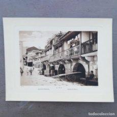 Postales: GRAN FOTOGRAFIA/FOTOTIPIA IMPRESA BARRIO DE PESCADORES, VIGO, FOTO OTTO WUNDERLICH. Lote 208175680