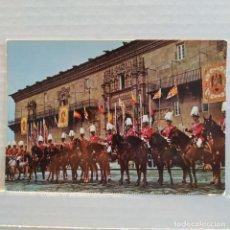 Postales: ¡ÚNICA! REPRESENTACIÓN DE LOS JINETES DE GALA DE LA GUARDIA URBANA DE BARCELONA EN SANTIAGO ARRIBAS. Lote 208586555
